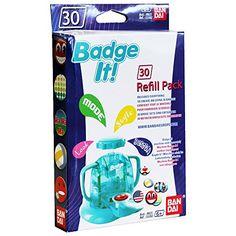 Bandai – 33302 – Kit De Loisirs Créatifs – Recharge Badge It! – 30 Badges – Bleu