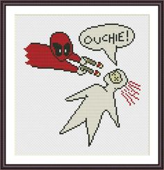 Looking for your next project? You're going to love Deadpool Funny Cross Stitch PDF Pattern by designer Crazzzy Stitch.