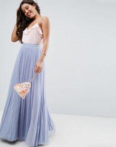 ASOS Tulle Maxi Prom Skirt - bridesmaid