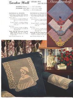 1949 Vintage Crochet Leaflet CRINOLINE LADY in by BRICABRACGARDEN