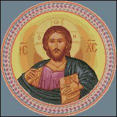 cross stitch byzantine icon