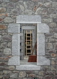 Window and door openings in a row give the opportunity to enjoy the view while circulating in the house. New Builds, Opportunity, Construction, Windows, Traditional, Landscape, Architecture, Building, Places