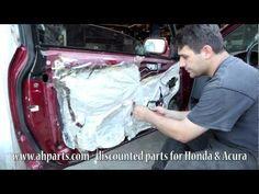 How to fix replace install a broken power window regulator motor Honda Accord 1994 1995 1996 1997