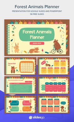 Organize all your activities with this adorable planner for Google Slides and PowerPoint. It's packed with cute illustrations of animals! Cute Powerpoint Templates, Free Powerpoint Presentations, Powerpoint Slide Designs, Powerpoint Design Templates, Graphic Design Tutorials, Graphic Design Posters, Kids Background, Powerpoint Background Design, Presentation Design
