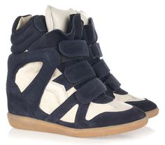 Look alikes>> Isabel Marant Bekett High-Top Sneakers in navy blue and white
