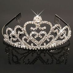 Gorgeous Sparkling Silver Plated Crystal Big Rhinestone Wedding Crown Headband Bridal Tiara Party Show Pageant Hair Accessories,Gold