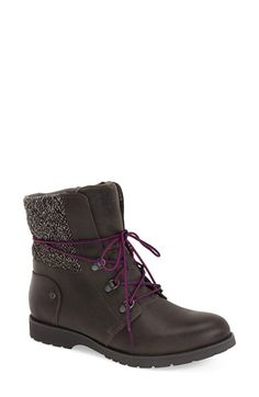 Free shipping and returns on The North Face 'Ballard' Lace-Up Boot (Women) at Nordstrom.com. Take on winter weather in style with this ruggedly chic lace-up boot featuring lightly distressed leather construction and a quilted herringbone cuff. TheOrthoLite® ReBound footbed adds comfortablecushioning, while temperature-sensitive IcePick® lugs increase traction on slippery surfaces.