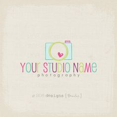 Premade Logo and Watermark - Photography - Camera (1287) via Etsy
