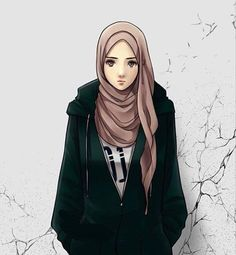 Most Hits 30 Cool Hijab Anime Pictures Hijab - 97 Best Hijab Anime Pictures Cartoon Animations And Pictures - Hijabi Girl, Girl Hijab, Muslim Girls, Muslim Women, Cover Wattpad, Hijab Drawing, Girly M, Islamic Cartoon, Hijab Cartoon