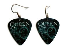 Queen Guitar Pick Earrings