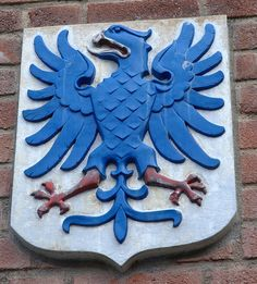 Heraldic Eagle. Situated beside the door of the Department of Archaeology & Ancient History at the University of Gothenburg.