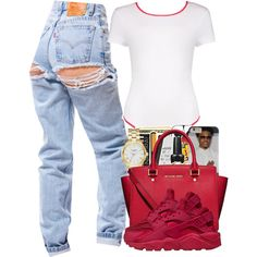 bodysuitcontest by yung-jenna on Polyvore featuring polyvore, Boohoo, NIKE, MICHAEL Michael Kors and Kate Spade