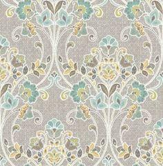 Willow Grey Nouveau Floral Wallpaper SZ001810 – D. Marie Interiors