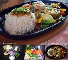 Sizzling Vegetables With Fragrant Rice (Chinese Sizzler) is a yummy platter of colourful vegetables served with rice. Sizzlers are great way of serving veg. Veg Recipes Of India, Veggie Recipes, Indian Food Recipes, Vegetarian Recipes, Cooking Recipes, Healthy Recipes, Rice Recipes, Veggie Meals, Indian Snacks