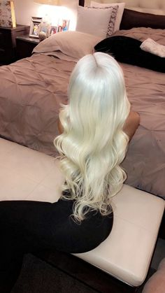 COLODO Lace Frontal Synthetic Wigs Platinum Blonde Silky Straight Costume Wigs Long Lace Front Wig for Women Big Hair, Wavy Hair, Dyed Hair, Platinum Blonde Hair, Hair Laid, Gorgeous Hair, Amazing Hair, Weave Hairstyles, Short Hairstyle