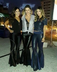 Leather Pants Outfit, Black Leather Pants, Leather Dresses, Bell Bottom Pants, Bell Bottoms, Sexy Outfits, Cute Outfits, Fast Fashion, Womens Fashion
