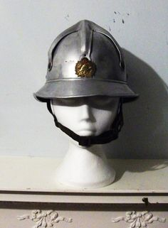 Bulgarian Aluminium fire helmet 1940's by Fallout6Bazaar on Etsy, £65.00