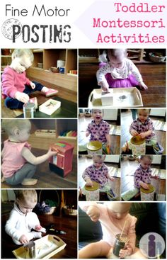 Montessori Inspired Toddler fine motor activities