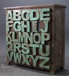 ABC reclaimed wood   sideboard, industrial loft design furniture