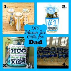 Mason Jar Gifts for Dad - Fathers Day Mason Jar Gifts!