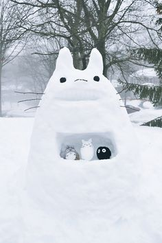 TOTORO! Guess who's gonna be playing outdoor in the snow this year