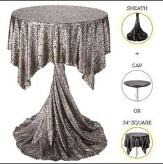 Glam up your highboys & lowboys with our highboy drapes. They're prefect for mixing & matching… and set up is a snap! Party Table Decorations, Decoration Table, Wedding Decorations, Cocktail Table Decor, Cocktail Tables, Patio Bar Set, Table Arrangements, Deco Table, Table Linens