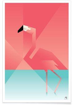Flamingo as Premium Poster