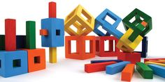 Other blocks are so square compared to Aroundsquare's vibrant colored, uniquely shaped GoodWood Deconstruction Blocks.