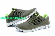 Nike Free Run 5.0 For Men Army Green Fluorescence Green Shoes