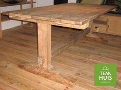 teakhouten kloostertafel | teak Closter table  Prachtige zwaar uitgevoerde eettafel met een blad van 3 cm.