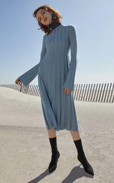 Long Pleated Dolcevita Dress by MRZ for Preorder on Moda Operandi