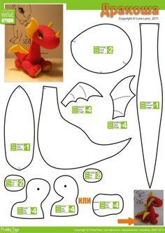 Patron d'un Dragon, en 3D