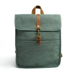 """Convertible Waxed Canvas Backpack, Vegan Backpack Bag P62208 Model Number: P62208 Dimensions: 11.8 """"L x 3.93""""W x 13.3""""H / 30cm(L) x 10cm(W) x 34cm(H) Weight: 2.64 lb / 1.2 kg Shoulder Strap: Adjustable Color: Coffee / Blue / Green / Dark Grey Can Fit A4 / iPad YKK Zipper Have a question or comment? Need more information? Please feel free to contact me. Thanks for visiting my shop and have a great day!"""