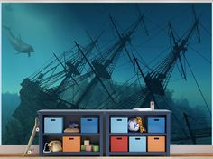 Ship Wreck underwater photo Wallpaper wall mural (7972896) Under the Sea