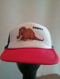 17b6af7cd4f Sesame Street Snuffy Mr. Snuffleupagus Baseball Trucker Cap Hat  Otto   BaseballCap Wonderful Things