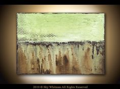 Original Modern Art Textured Minimalist Sage Green Palette Knife Contemporary Painting by Sky Whitman