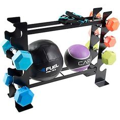 The CAP 27 in Dumbbells and Accessories Storage Rack is made of steel and features 2 levels with side storage. Workout Room Home, Gym Room At Home, Workout Rooms, At Home Workouts, Yoga Workouts, Home Gym Equipment, No Equipment Workout, Fitness Equipment, Gym Fitness