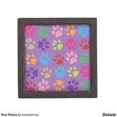 Paw Prints Premium Keepsake Boxes #Paw #Print #Animal #Pet #Dog #Cat #Keepsake #Trinket #Gift #Box
