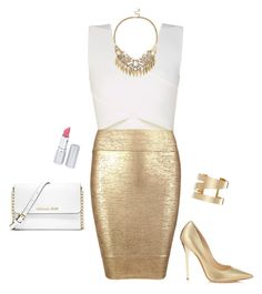 Gold night out by rgilman12 on Polyvore featuring polyvore, fashion, style, BCBGMAXAZRIA, Posh Girl, Jimmy Choo, MICHAEL Michael Kors, Sole Society, Isabel Marant and HoneyBee Gardens