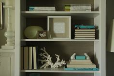 Bookcase Styling.  #organizedlifestyle
