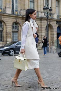 Мирослава Дума - street style fashion week 2014-2015 / fashiony ru мирослава дума