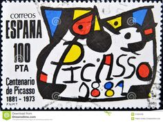 picasso stamp 1981 worth | SPAIN - CIRCA 1981: A stamp printed in Spain commemorating the ...