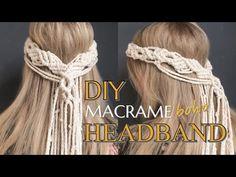 How to create Macrame Boho Style Headband Hi everyone, This tutorial shows step by step how to create boho macrame headband for wedding / summer / etc. Veil Diy, Diy Wedding Veil, Headband Tutorial, Diy Headband, Flower Headbands, Bow Tutorial, Fabric Flower Tutorial, Macrame Tutorial, Macrame Headband