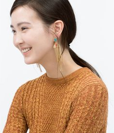 ZARA - WOMAN - MULTICOLOURED GEOMETRIC EARRINGS