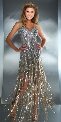 disco dress with sequin fringe - Google Search