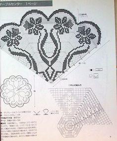 Kraina wzorów szydełkowych...Land crochet patterns..: serweta