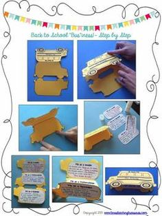 Back to School Craftivities and Actvities! The school bus and the ice cream cone are my fave!! $