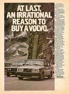 advertising ad ds ads / VOLVO 240 GLT / 1980