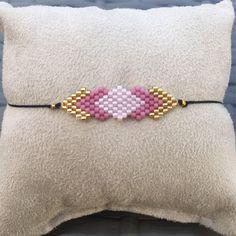 Items similar to Trendy Bohemian chic bracelet with miyuki beads handwoven - Bracelet in pastel pink gift miyuki beads on Etsy Seed Bead Jewelry, Bead Jewellery, Jewelry Shop, Beaded Jewelry, Handmade Jewelry, Beaded Brooch, Beaded Earrings, Beaded Bracelets, Jewelry Patterns