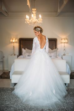 See our dresses on our real brides Lace Bodice, Ball Gowns, Tulle, Bride, Wedding Dresses, Sleeves, Fashion, Ballroom Gowns, Wedding Bride